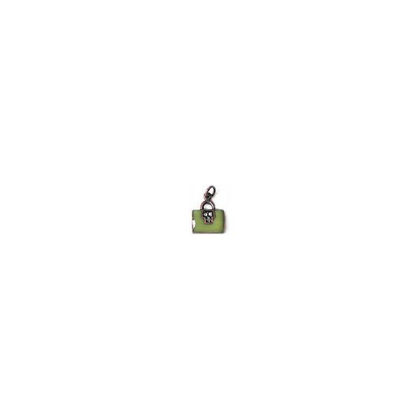Pendentif émaillée - Sac rectangle