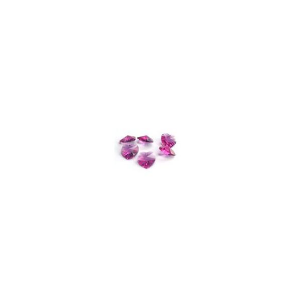Cœurs Swarovski Rose foncé AB