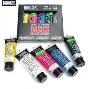 Acrylique Liquitex Basics (set de couleurs primaires)