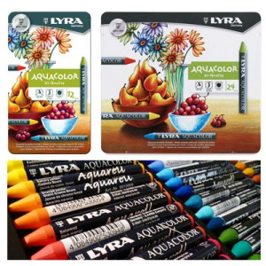 Craies à la cire Lyra Aquacolor