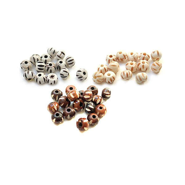 Perles naturelles en os