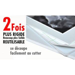 Carton mousse / carton plume ALU auto-adhésif