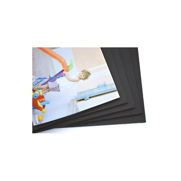 Carton plume ou carton mousse format photo - Noir
