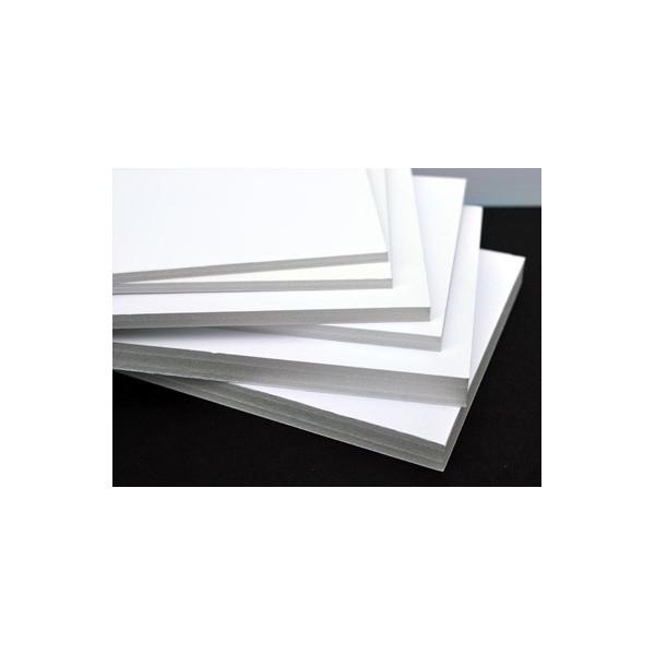 Carton mousse blanc , carton plume  Blanc