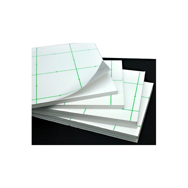Carton mousse / plume auto-adhésive - Blanc