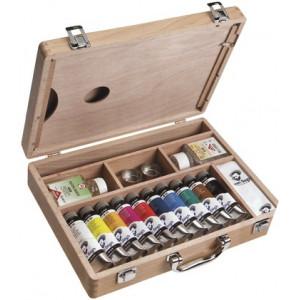 Coffret huile super fine Van Gogh en bois