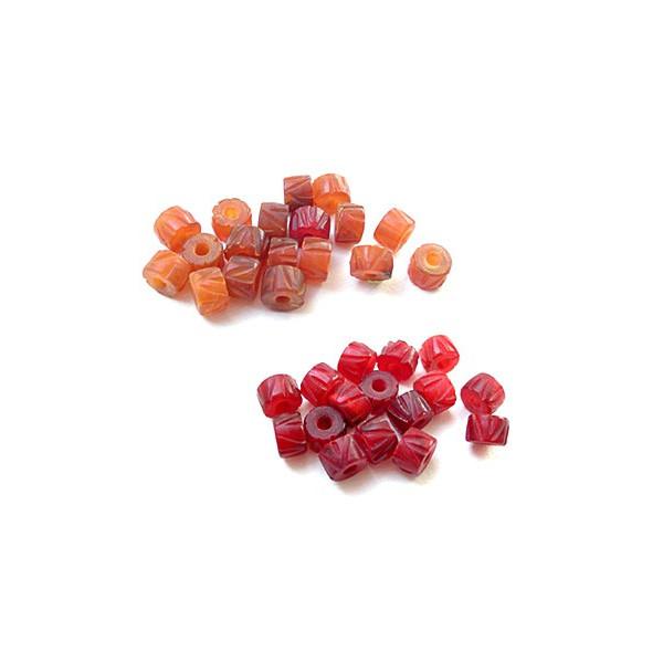 Perles naturelles en corne