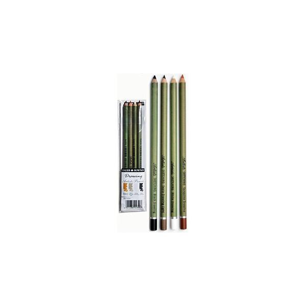 Pochette de 4 crayons Dessin  - Daler Rowney