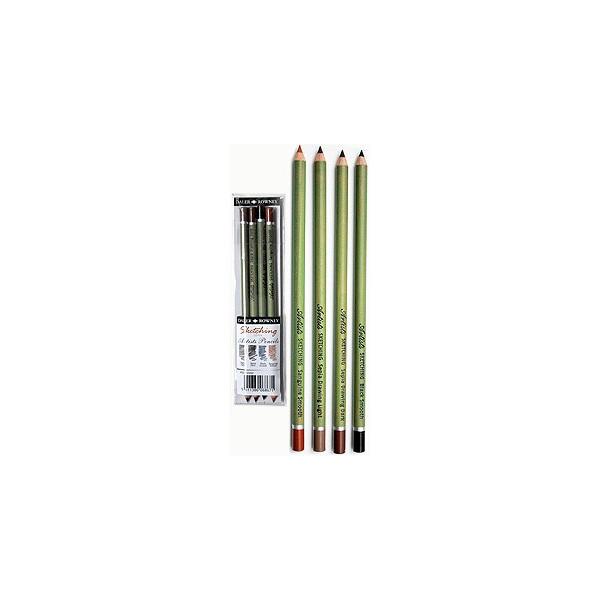 Pochette de 4 crayons Esquisse - Daler Rowney