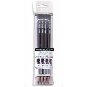 Pochette de 4 crayons Graphite - Daler Rowney