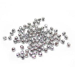 Facettes ou perles de Bohême - Argent