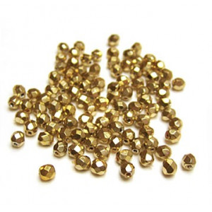 Facettes ou perles de Bohême - Doré