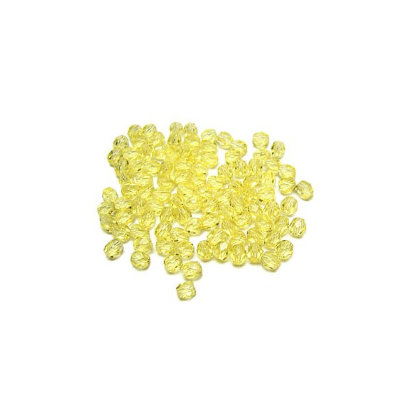 Facettes ou perles de Bohême - Jaune