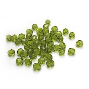 Facettes ou perles de Bohême - Olive