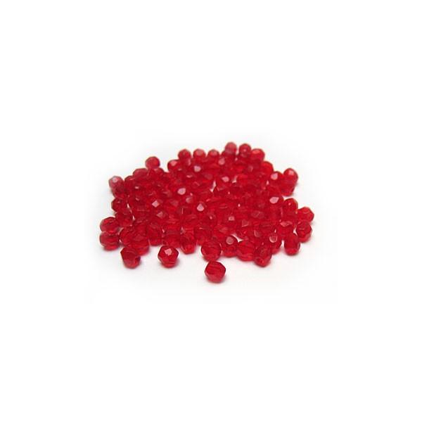 Facettes ou perles de Bohême - Rouge