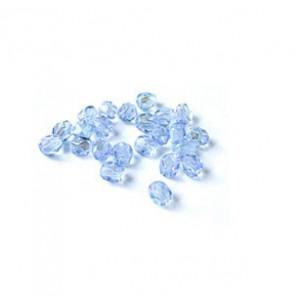 Facettes ou perles de Bohême - Saphir AB -  - 4mm, 6 mm
