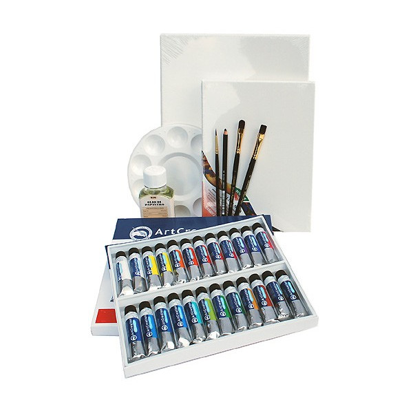 Kit Peinture huile 24 couleurs