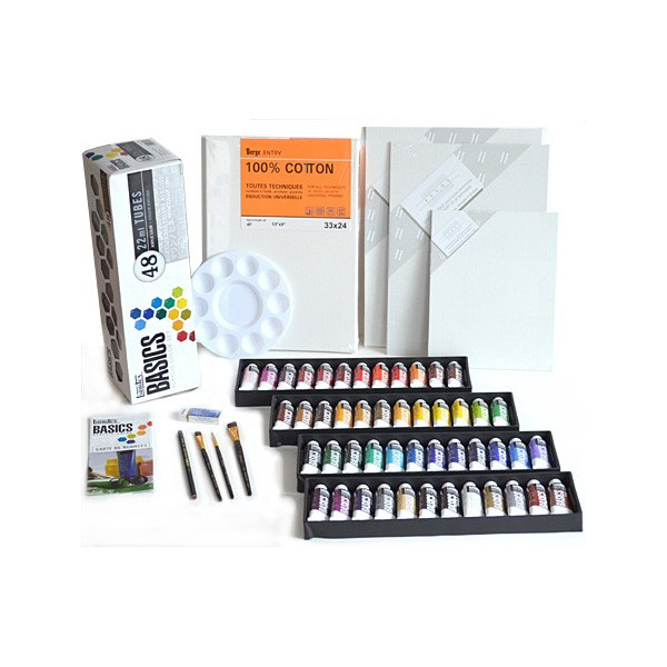 Kit acrylique 48 couleurs