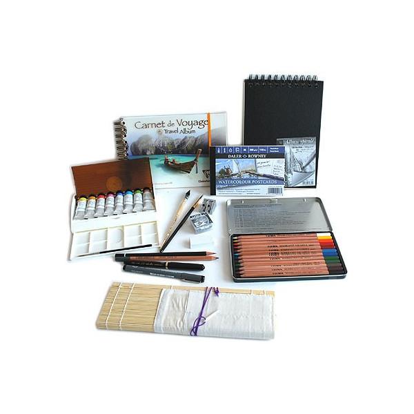 Kit peinture aquarelle Vacances et Dessin en tubes